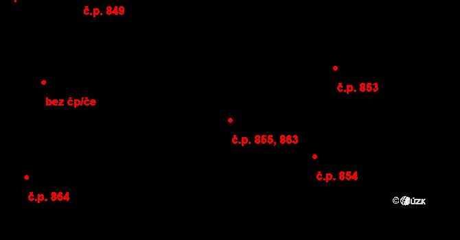 Staré Město 855,863, Praha na parcele st. 954 v KÚ Staré Město, Katastrální mapa
