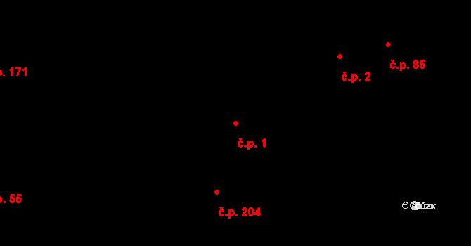 Děhylov 1 na parcele st. 497 v KÚ Děhylov, Katastrální mapa
