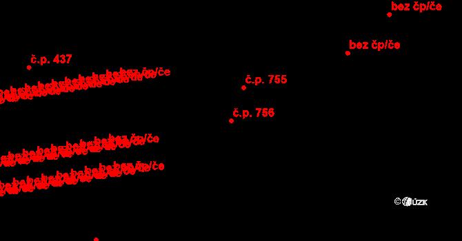 Svítkov 756, Pardubice na parcele st. 762 v KÚ Svítkov, Katastrální mapa
