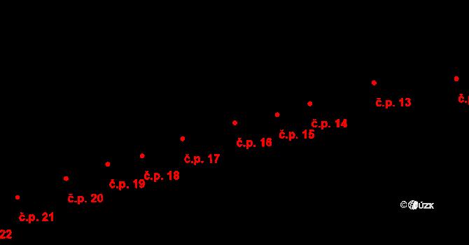 Zábřeh 16 na parcele st. 78 v KÚ Zábřeh na Moravě, Katastrální mapa