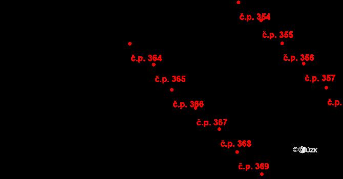 Staré Hory 366, Jihlava na parcele st. 587 v KÚ Staré Hory, Katastrální mapa