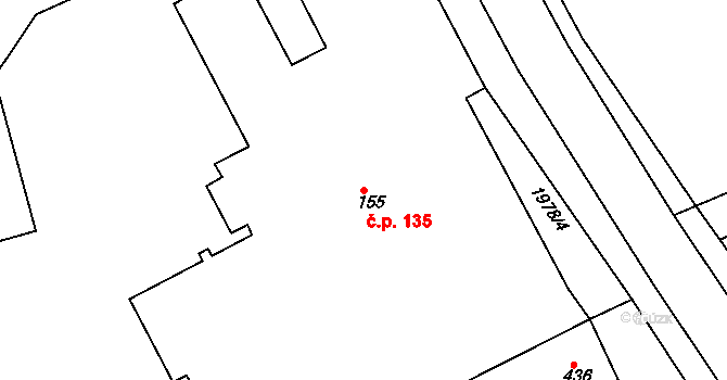Horní Staré Město 135, Trutnov na parcele st. 155 v KÚ Horní Staré Město, Katastrální mapa