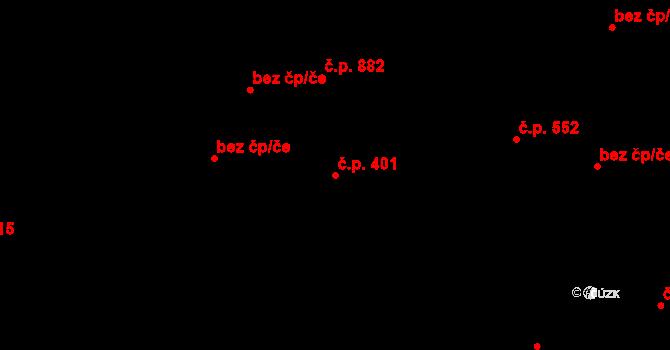 Liberec III-Jeřáb 401, Liberec na parcele st. 4343 v KÚ Liberec, Katastrální mapa