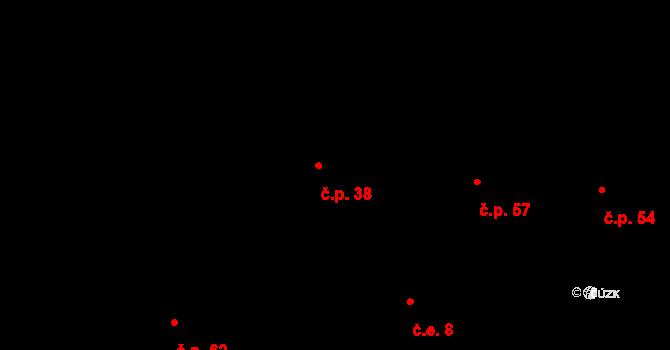 Lhota pod Džbánem 38, Mutějovice na parcele st. 72 v KÚ Lhota pod Džbánem, Katastrální mapa