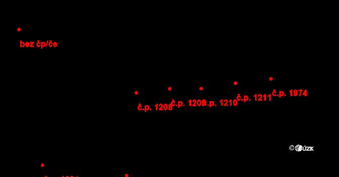 Nové Město 1209, Praha na parcele st. 345 v KÚ Nové Město, Katastrální mapa