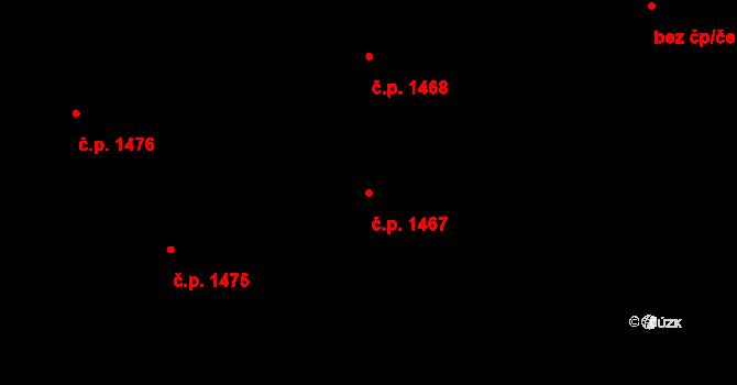 Podlesí 1467, Havířov na parcele st. 524/15 v KÚ Bludovice, Katastrální mapa