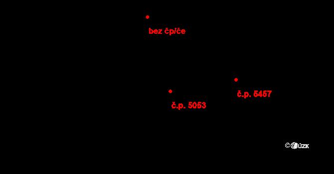 Jihlava 5053 na parcele st. 2860/16 v KÚ Jihlava, Katastrální mapa