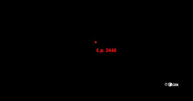 Blansko 2445 na parcele st. 5094 v KÚ Blansko, Katastrální mapa