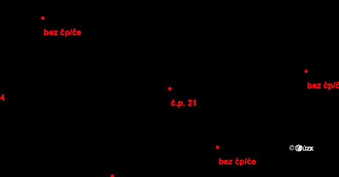 Závada 21 na parcele st. 3/1 v KÚ Závada u Hlučína, Katastrální mapa