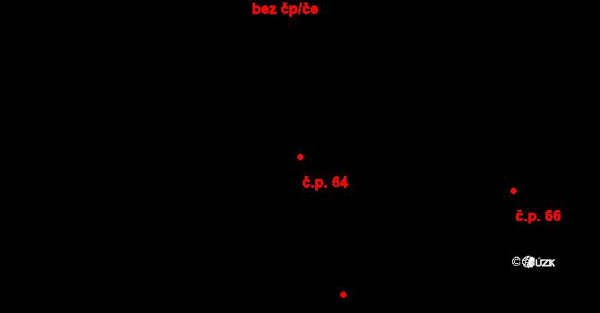 Lázně Kundratice 64, Osečná na parcele st. 23 v KÚ Lázně Kundratice, Katastrální mapa