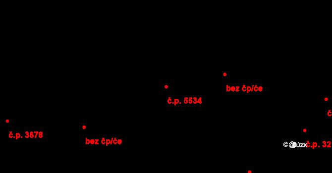 Zlín 5534 na parcele st. 8523 v KÚ Zlín, Katastrální mapa