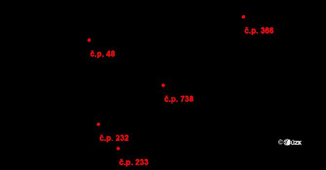Liberec VIII-Dolní Hanychov 738, Liberec, Katastrální mapa