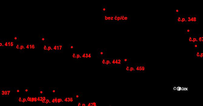 Nivnice 442 na parcele st. 2402 v KÚ Nivnice, Katastrální mapa