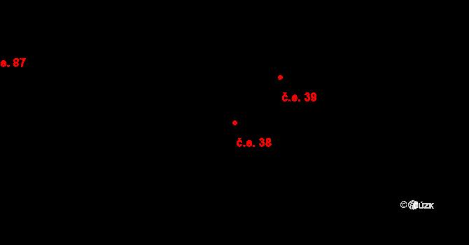 Kamenná Lhota 38, Borotín na parcele st. 87 v KÚ Kamenná Lhota u Borotína, Katastrální mapa
