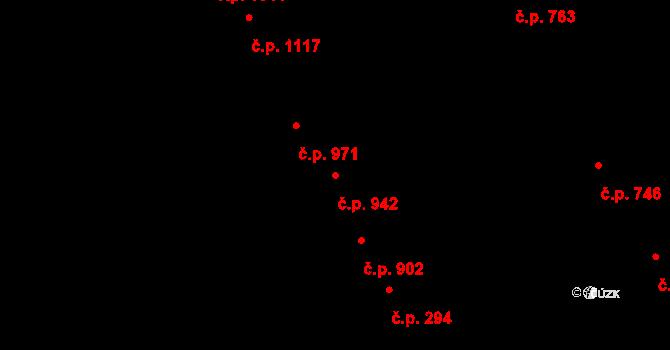 Nivnice 942 na parcele st. 652/3 v KÚ Nivnice, Katastrální mapa