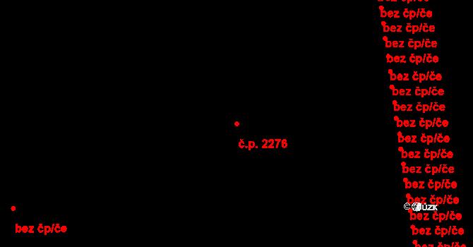 Poruba 2276, Ostrava na parcele st. 1739/152 v KÚ Poruba, Katastrální mapa