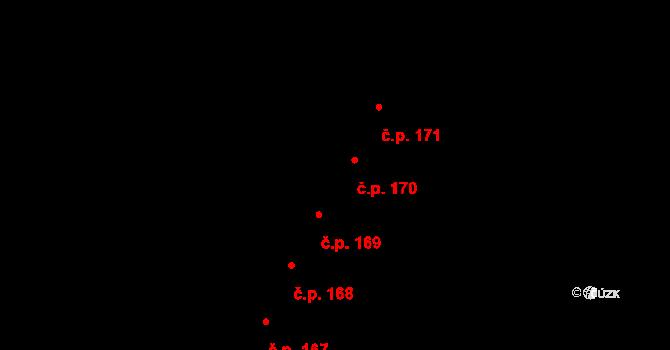 Lhota 170, Plzeň na parcele st. 781/29 v KÚ Lhota u Dobřan, Katastrální mapa