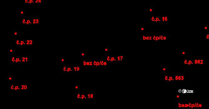 Jihlava 17 na parcele st. 39 v KÚ Jihlava, Katastrální mapa