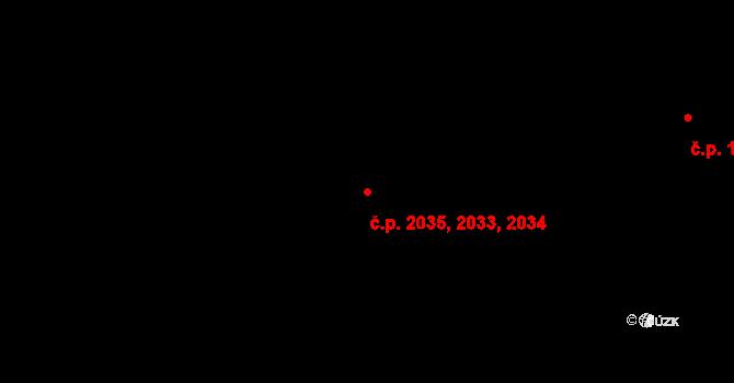 Kročehlavy 2033,2034,2035, Kladno na parcele st. 3528 v KÚ Kročehlavy, Katastrální mapa