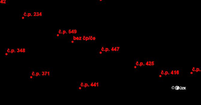 Česká Třebová 447 na parcele st. 504 v KÚ Česká Třebová, Katastrální mapa