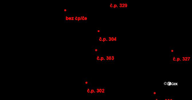 Litovel 303 na parcele st. 682 v KÚ Litovel, Katastrální mapa