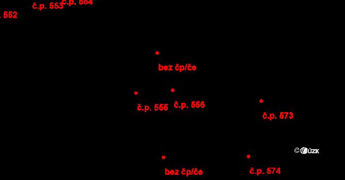 Svítkov 556, Pardubice na parcele st. 620/1 v KÚ Svítkov, Katastrální mapa