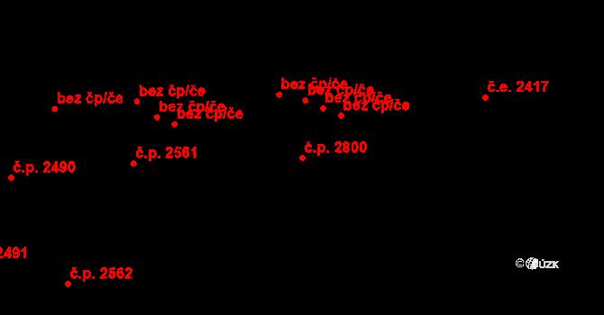 Východní Předměstí 2800, Plzeň na parcele st. 5207/2 v KÚ Plzeň, Katastrální mapa