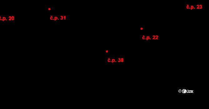Radkova Lhota 38 na parcele st. 45 v KÚ Radkova Lhota, Katastrální mapa