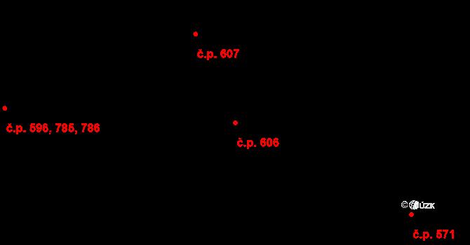 Veveří 606, Brno na parcele st. 1283 v KÚ Veveří, Katastrální mapa