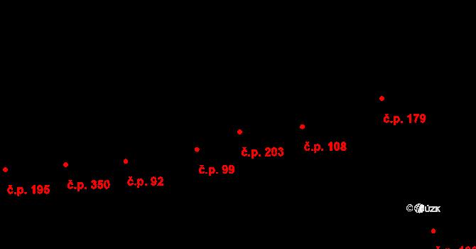 Prštné 203, Zlín na parcele st. 261/1 v KÚ Prštné, Katastrální mapa
