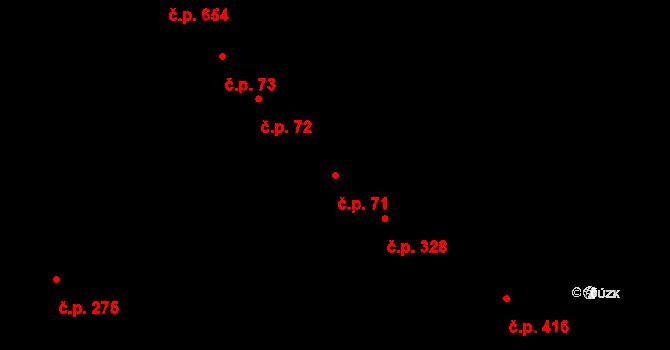 Studánka 71, Pardubice na parcele st. 124 v KÚ Studánka, Katastrální mapa
