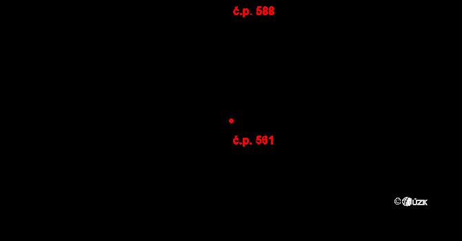 Mladcová 561, Zlín na parcele st. 982 v KÚ Mladcová, Katastrální mapa