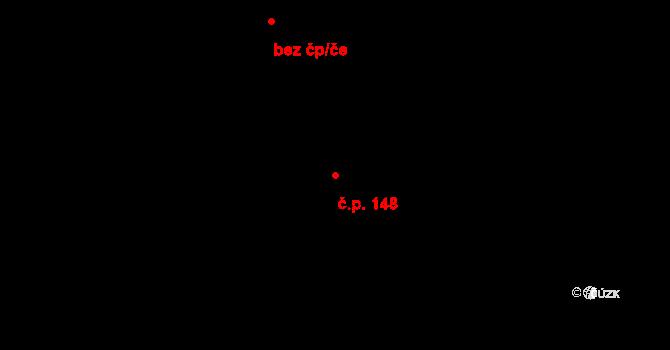 Zábrdovice 148, Brno na parcele st. 612 v KÚ Zábrdovice, Katastrální mapa