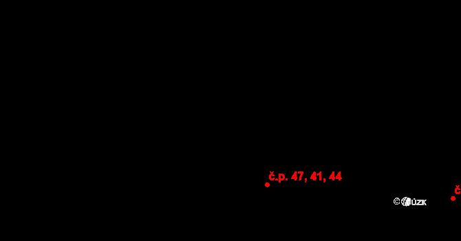 Nová Role 41,44,47 na parcele st. 212 v KÚ Nová Role, Katastrální mapa