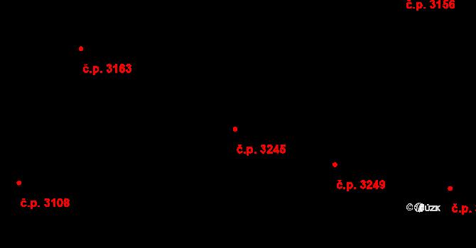 Teplice 3245 na parcele st. 4730/130 v KÚ Teplice, Katastrální mapa