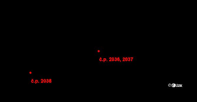 Kročehlavy 2036,2037, Kladno na parcele st. 3529 v KÚ Kročehlavy, Katastrální mapa