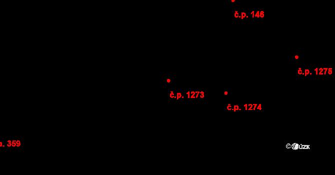 Libeň 1273, Praha na parcele st. 3594 v KÚ Libeň, Katastrální mapa