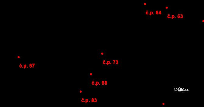 Nedvězí 73, Olomouc na parcele st. 82 v KÚ Nedvězí u Olomouce, Katastrální mapa