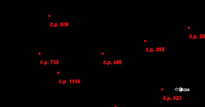 Vítkovice 459, Ostrava na parcele st. 773 v KÚ Vítkovice, Katastrální mapa