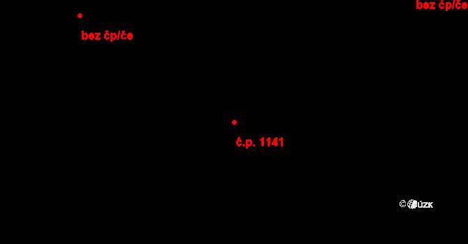 Skvrňany 1141, Plzeň na parcele st. 2079/18 v KÚ Skvrňany, Katastrální mapa