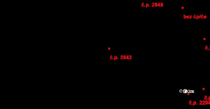 Aš 2842 na parcele st. 4731 v KÚ Aš, Katastrální mapa