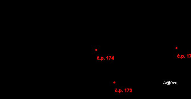 Nová Ves u Nového Města na Moravě 174 na parcele st. 1551/28 v KÚ Nová Ves u Nového Města na Moravě, Katastrální mapa