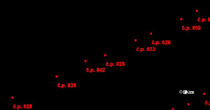 Hostavice 825, Praha na parcele st. 877/282 v KÚ Hostavice, Katastrální mapa