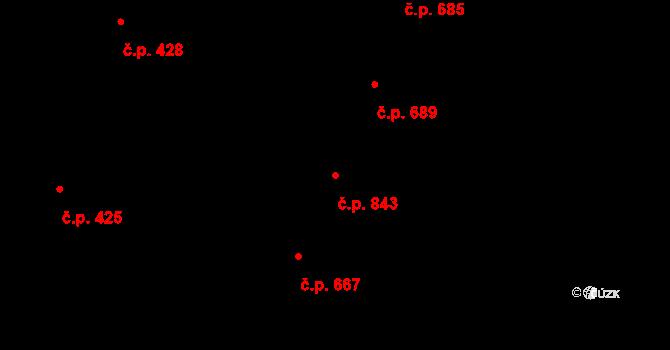 Nivnice 843 na parcele st. 2067 v KÚ Nivnice, Katastrální mapa