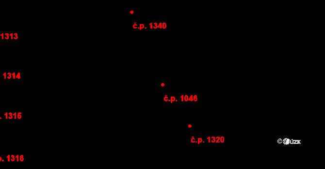 Nusle 1046, Praha na parcele st. 2828/1 v KÚ Nusle, Katastrální mapa