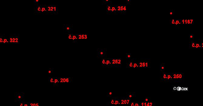 Olomouc 252 na parcele st. 661 v KÚ Olomouc-město, Katastrální mapa