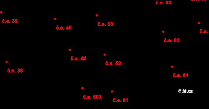 Prštné 52, Zlín na parcele st. 851 v KÚ Prštné, Katastrální mapa