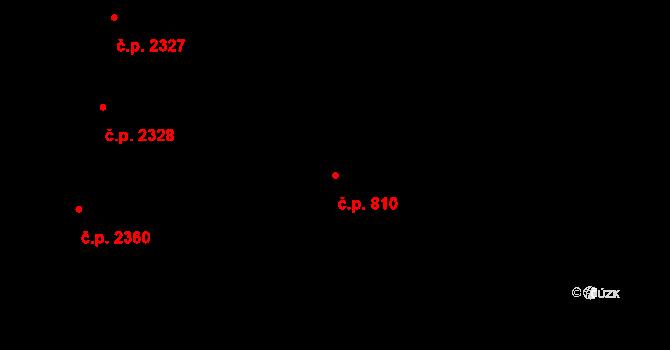 Vinohrady 810, Praha na parcele st. 3093/1 v KÚ Vinohrady, Katastrální mapa