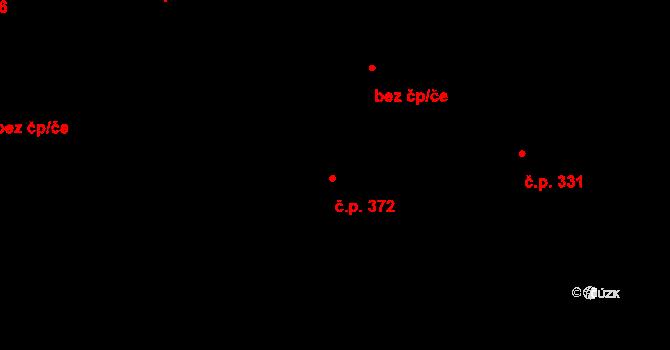 Zásada 372 na parcele st. 601 v KÚ Zásada, Katastrální mapa