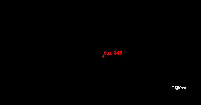 Štěchovice 349 na parcele st. 639 v KÚ Štěchovice u Prahy, Katastrální mapa